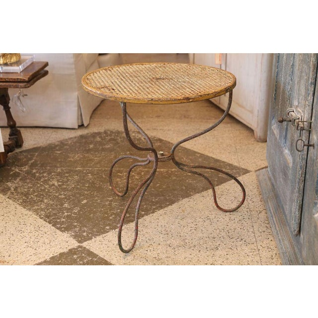 Metal French Garden Table For Sale - Image 7 of 8