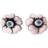 Image of Mwlc Surrealist Pink Poppy Earrings For Sale