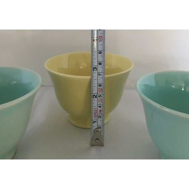 1940s Ts and T LuRay Pastels Teacups - Set of 3 For Sale In New York - Image 6 of 11