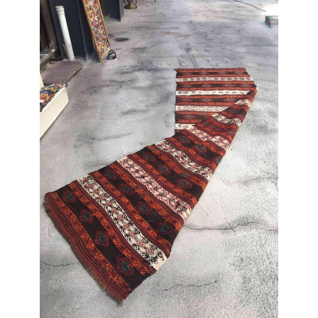 """Islamic Embroidered Kilim Runner - 2'8"""" x 9'2"""" For Sale - Image 3 of 4"""