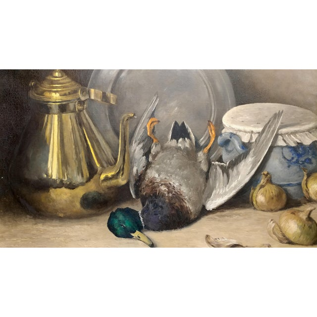 Moeng - Still Life W/Dead Game -19th Century Oil Painting For Sale - Image 4 of 10