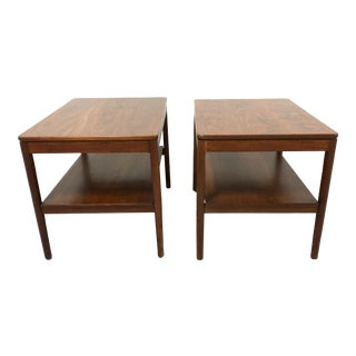 Mid Century Modern Walnut Side Tables Drexel Declaration—a Pair For Sale
