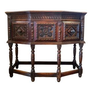 Antique Tudor English Oak Jacobean Renaissance Style Hunt Board For Sale