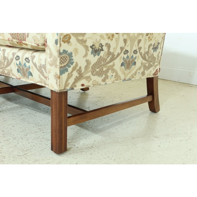 1960s Chippendale Style Quality 8 Legged Mahogany Camelback Sofa For Sale - Image 5 of 10