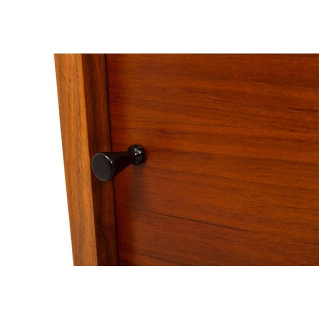 Nakashima Style Solid Walnut Media Cabinet For Sale - Image 7 of 10