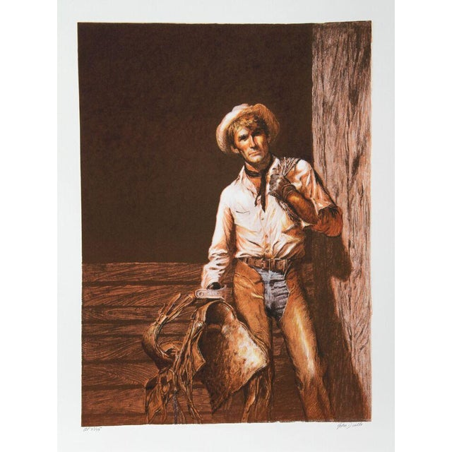 "John Duillo, ""The Cowboy,"" Lithograph - Image 1 of 2"