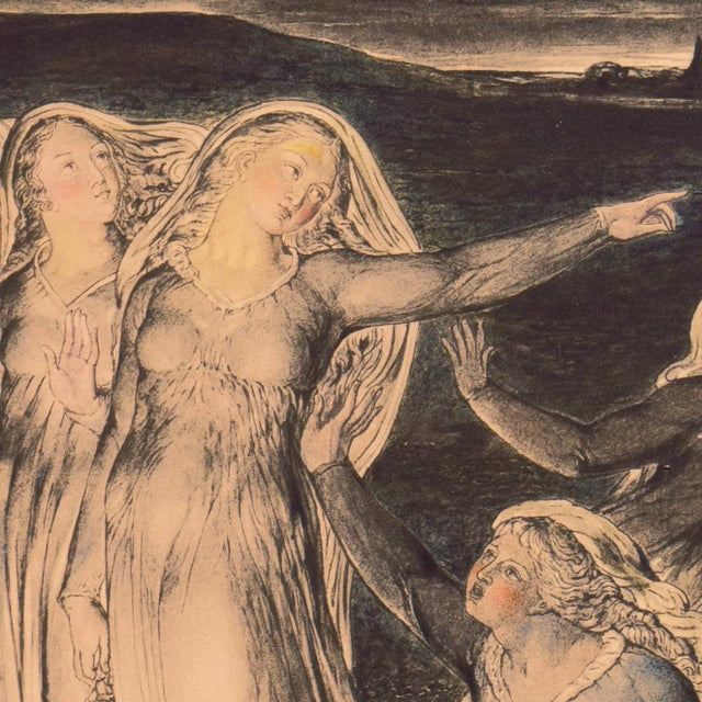'The Parable of the Wise and Foolish Virgins' by William Blake, Proto-Symbolist Lithograph For Sale - Image 10 of 12