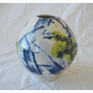 Contemporary Ceramic Small Green Dragon Moon Vase Preview
