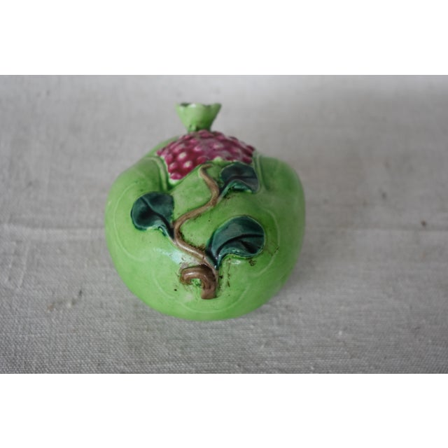 Vintage Chinese ceramic altar pomegranate displaying the seeds, stem and leaves. This is a pre-owned item so please see...