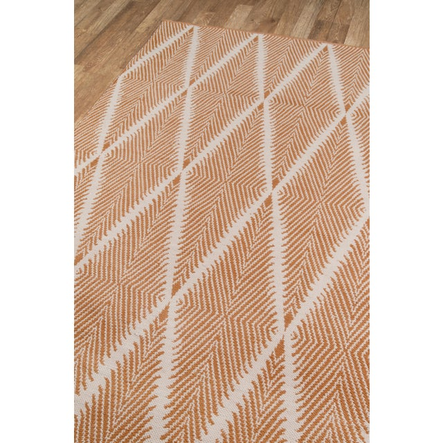 """Erin Gates by Momeni River Beacon Orange Indoor/Outdoor Hand Woven Area Rug - 3'6"""" X 5'6"""" For Sale - Image 4 of 7"""