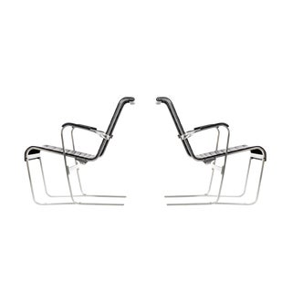 Pair of Marcel Breuer Lounge Chairs For Sale