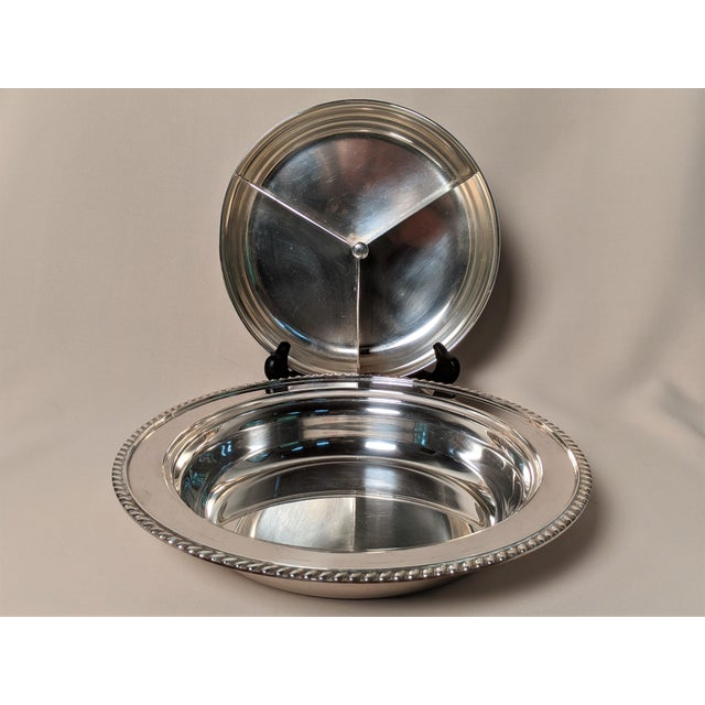 Silver Epc 1940s Silver Plate Serving Dish For Sale - Image 8 of 13