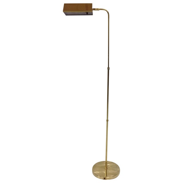 Mid Century Articulated Brass Pharmacy Lamp For Sale