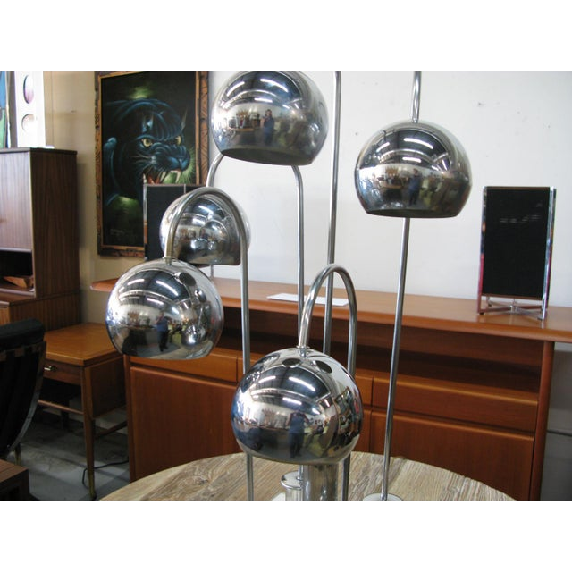 Robert Sonneman Chrome Ball Waterfall Lamp - Image 9 of 11