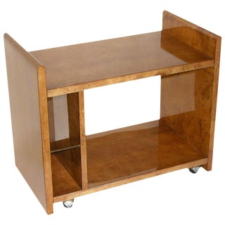 Aldo Tura Amber Goatskin Cart or Side Table For Sale