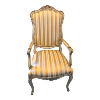 Vintage Mid Century French Provincial Arm Chair For Sale