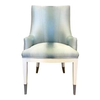Caracole Custom Blue Modern a La Carte Dining/Desk Chair For Sale