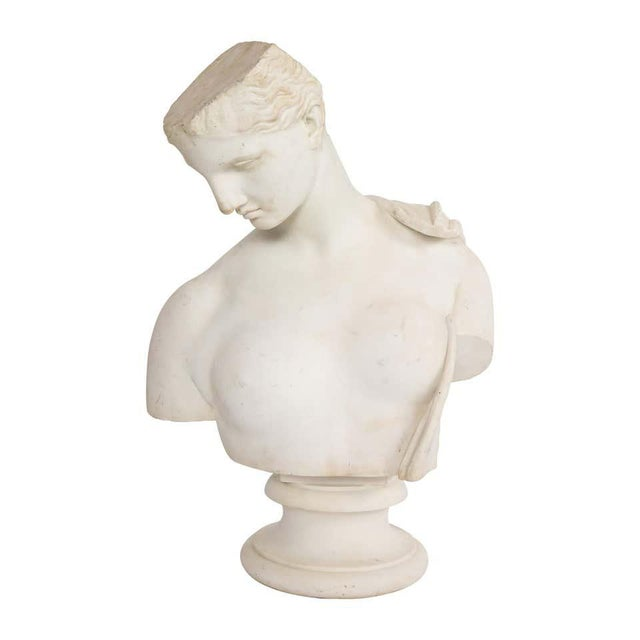 Antique Italian Neoclassical Marble Bust of Psyche, by Giuseppe Carnevale For Sale - Image 13 of 13