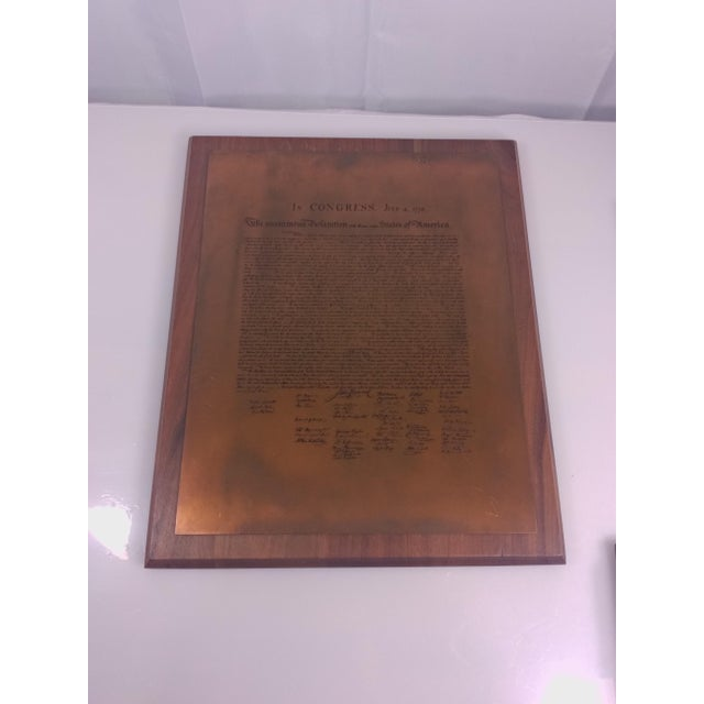 Vintage Declaration of Independence Wall Plaque - Image 3 of 4
