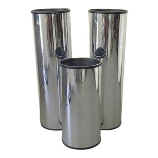 Vintage Mid Century Modern Chrome Plant Stands - Set of 3 For Sale