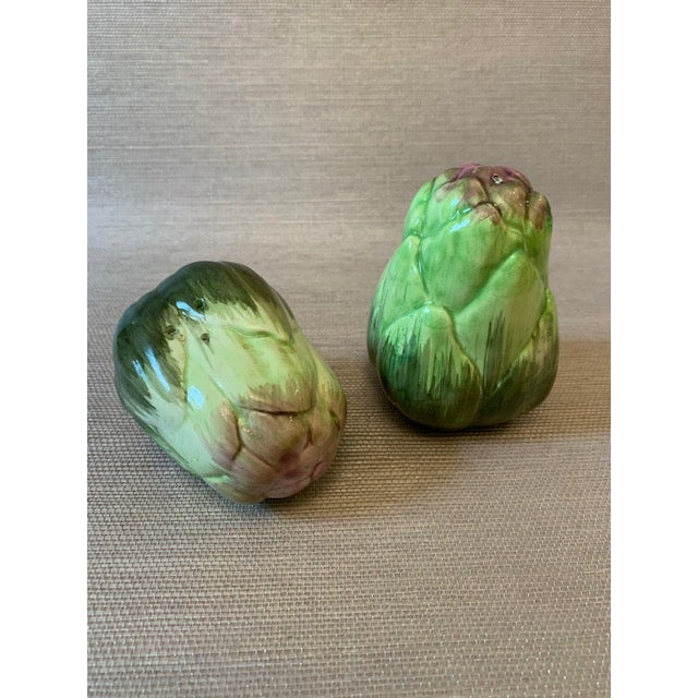 Fitz and Floyd Artichoke Salt and Pepper Shakers-Fitz Floyd For Sale - Image 4 of 6