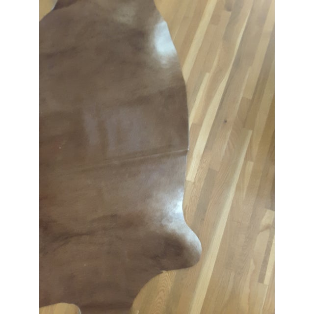 Argentinian Tan Cowhide Leather Rug - 5' x 7' - Image 4 of 5