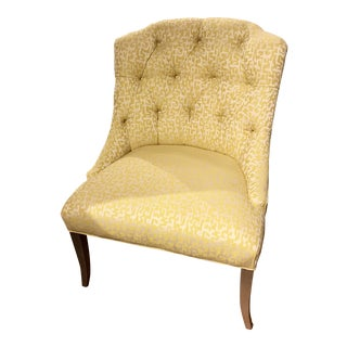 Yellow Upholstered Accent Chair