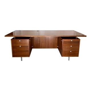 George Nelson for Herman Miller Walnut Executive Desk For Sale