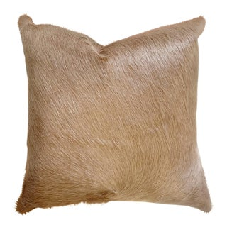 "Forsyth 18"" Palomino Brazilian Cowhide Pillow For Sale"