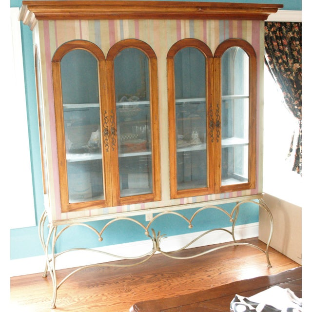 Painted Mahogany Curio Cabinet For Sale - Image 13 of 13