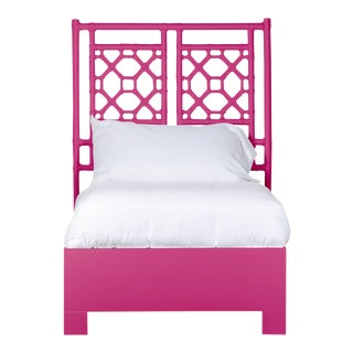 Lattice Back Bed Twin - Bright Pink For Sale