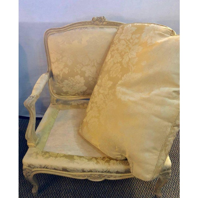 Fabric Louis XV Style Lounge Chairs by Maison Jansen - a Pair For Sale - Image 7 of 11