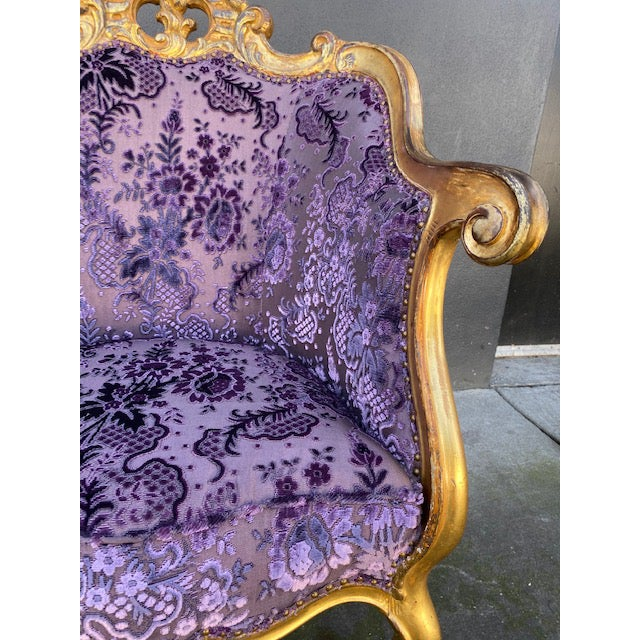 Late 19th Century Vintage Italian Giltwood Chair For Sale - Image 12 of 13