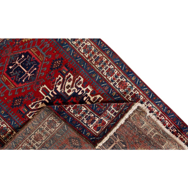 """Traditional Vintage Persian Heriz Rug, 4'8"""" X 7'0"""" For Sale - Image 3 of 9"""