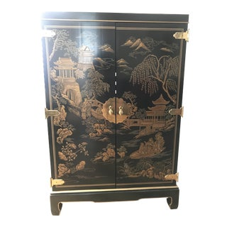 Drexel Heritage Chinoiserie Cabinet For Sale