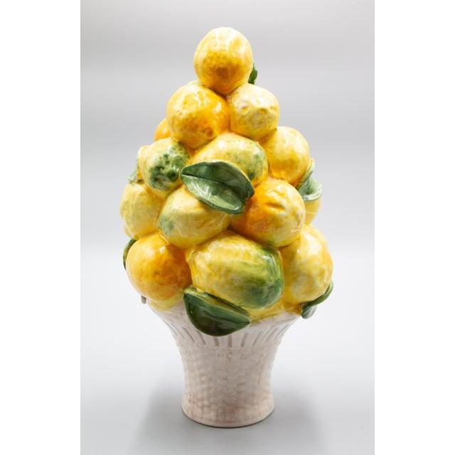 Yellow Vintage Italian Majolica Lemon Topiary For Sale - Image 8 of 8