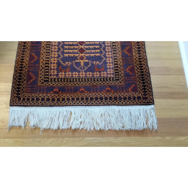 "Persian Shiraz Hand-Knotted Oriental Wool Rug - 4'10"" X 2'11"" - Image 6 of 11"