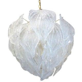 Murano Glass Leaf Chandelier