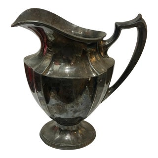 1950s Traditional Wallace Bros Elegant Silverplate Pitcher For Sale