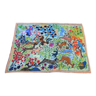 Vintage Middle Eastern Woodland Scene Tapestry