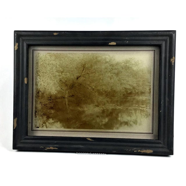 Rustic Rustic Framed Reversed Screen Prints on Glass - a Pair For Sale - Image 3 of 7