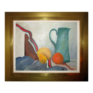 1940s Mid Century Modern Still Life Painting by Rolph Scarlett For Sale
