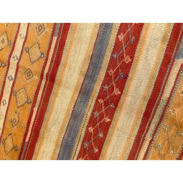Vintage Moroccan Tribal Kilim Rug, circa 1960 For Sale - Image 10 of 13