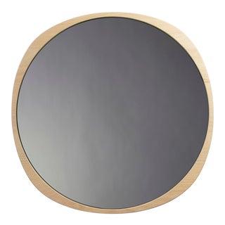 Contemporary Natural Ash Frame Smoke Fade Mirror For Sale
