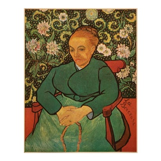 "1947 Vincent Van Gogh ""Portrait of Madame Roulin"", First Edition Parisian Lithograph For Sale"