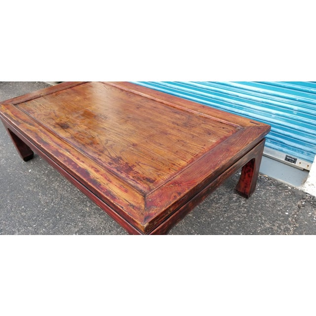 20th Century Asian Antique Monk Style Coffee Table For Sale - Image 4 of 13