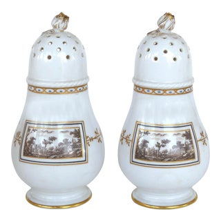 "Italian Richard Ginori ""Fiesole"" Pattern Salt & Pepper Shakers For Sale"