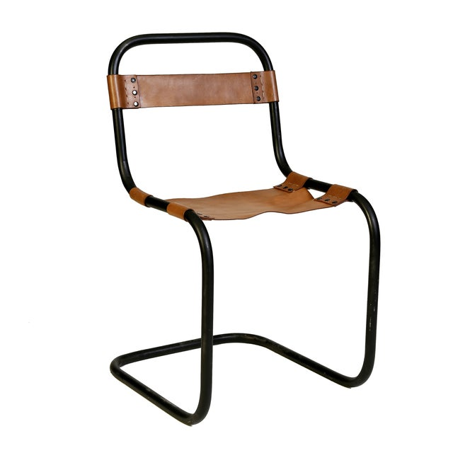 Metal and Vaqueta Leather Chair - Image 2 of 2