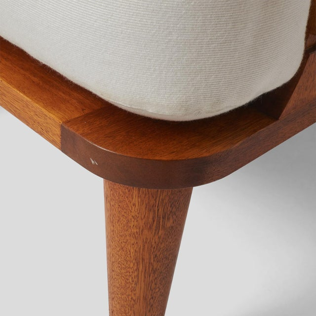 A LINEAR WING CHAIR EXCLUSIVELY FOR ALMOND & CO. For Sale - Image 10 of 11
