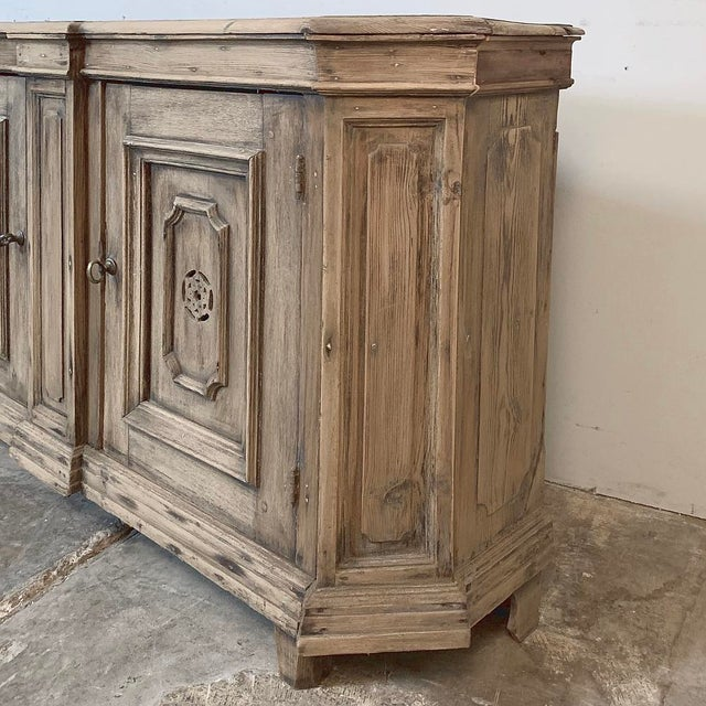 18th Century Stripped Pine Dutch Low Buffet For Sale - Image 10 of 12